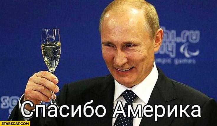 Vladimir Putin toast to America Donald Trump