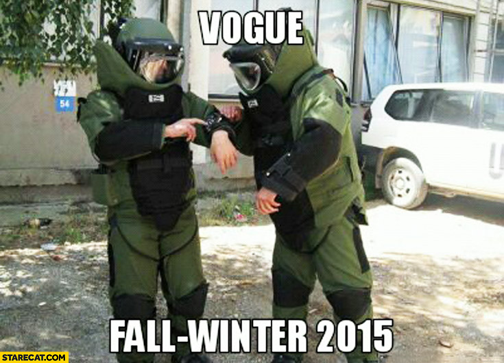 Vogue fall-winter 2015 anti bomb suit