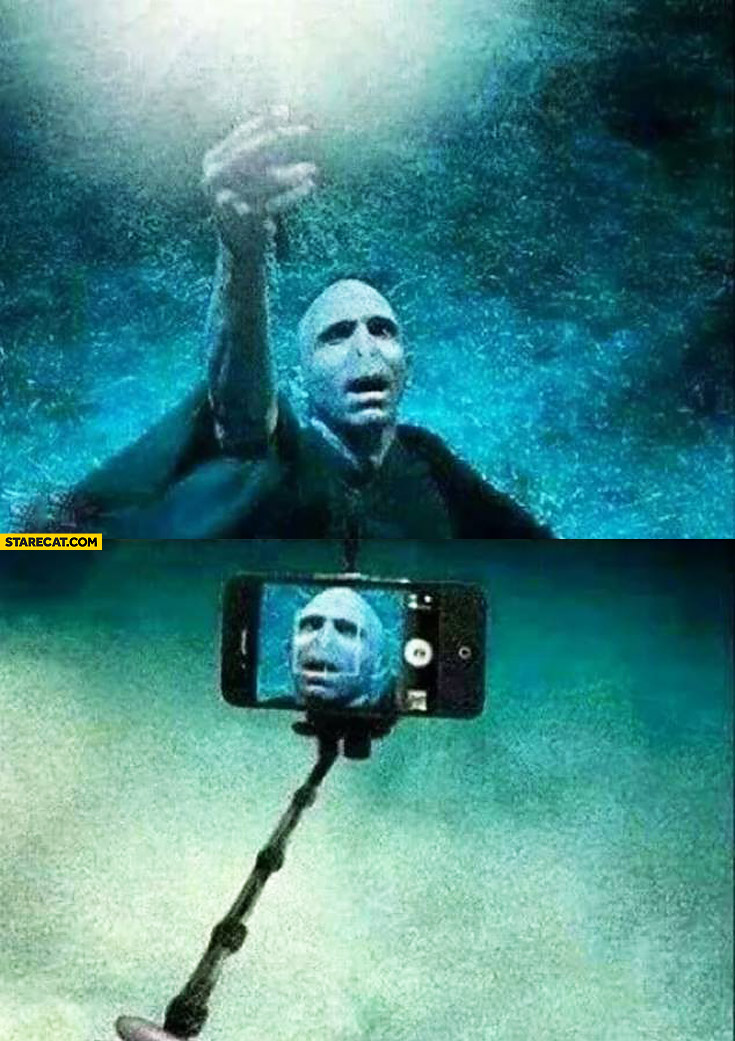 Funny Science Quotes For Kids Voldemort selfie stick...