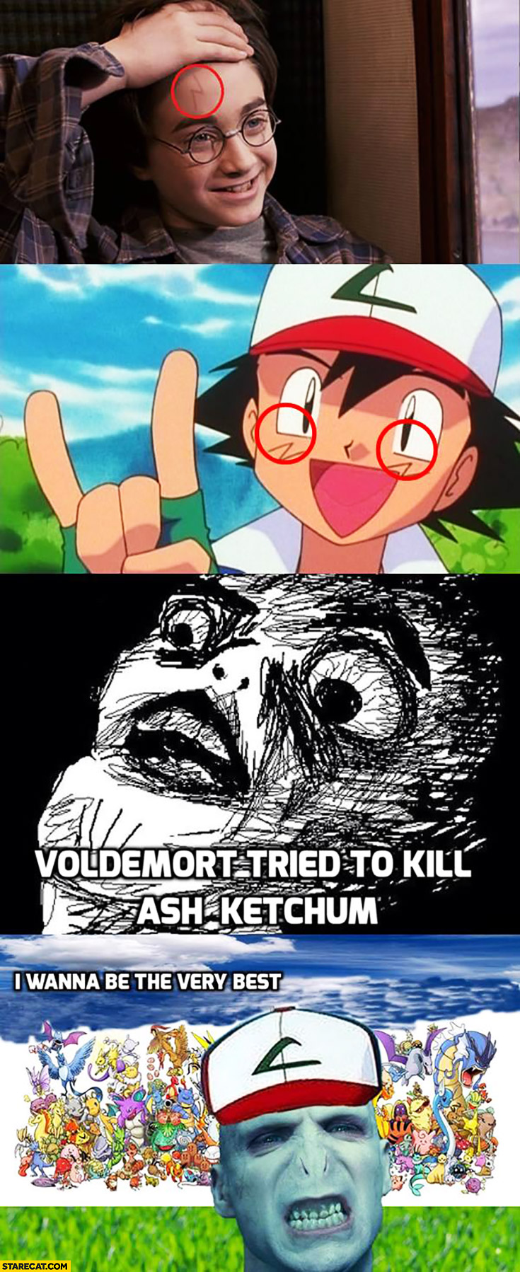 Voldemort tried to kill Ash Ketchum Pokemon Harry Potter