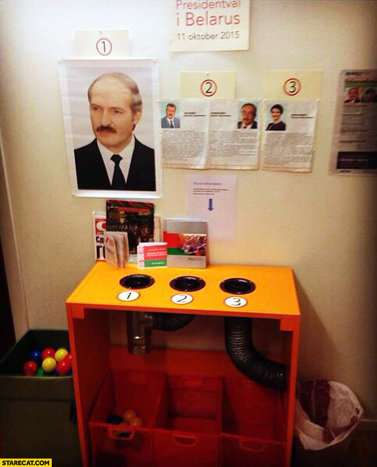 Voting booth Belarus Lukashenko presidential elections