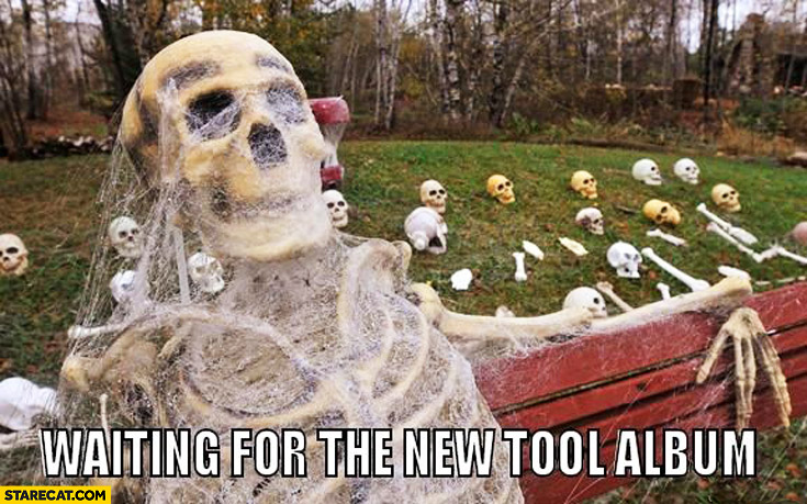 Waiting for the new tool album skeleton