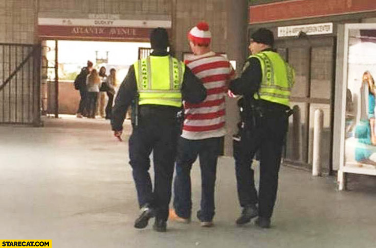 Waldo found and caught by the police