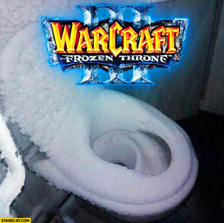 Warcraft 3 Frozen throne toilet in snow
