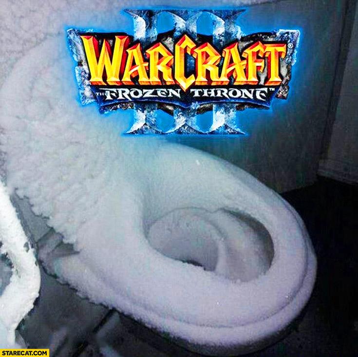 Warcraft 3 Frozen throne toilet in snow