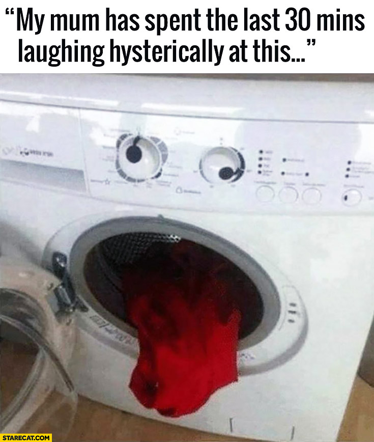 Washing machine looking like crazy eyes tongue