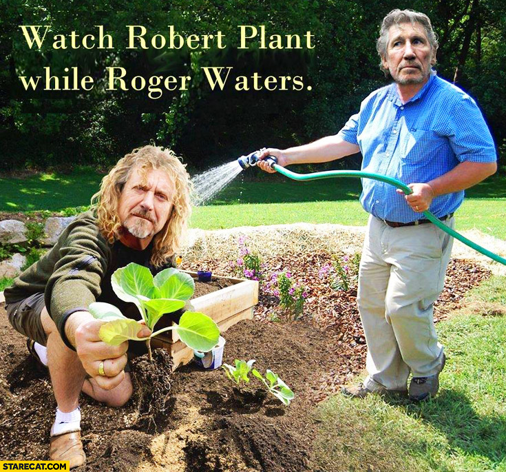 Watch Robert Plant while Roger Waters