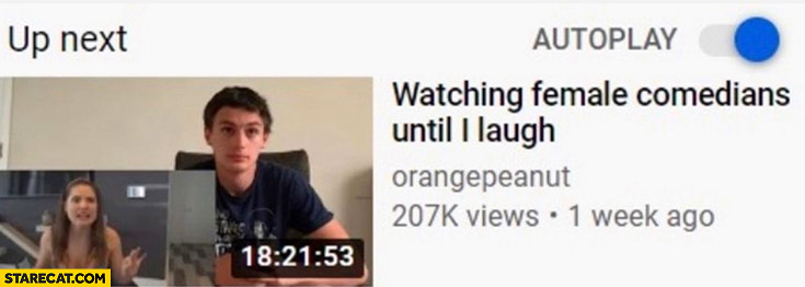 Watching female comedians until I laugh 18 hours long YouTube video