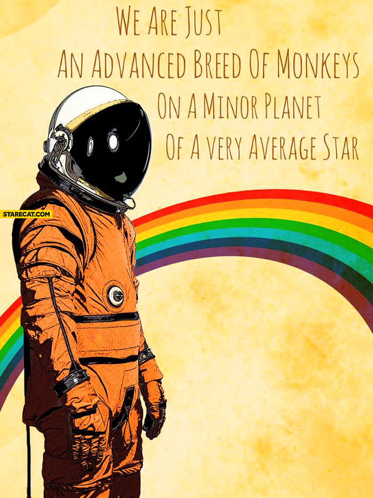 We are just an advanced breed of monkeys on a minor planet of a very average star