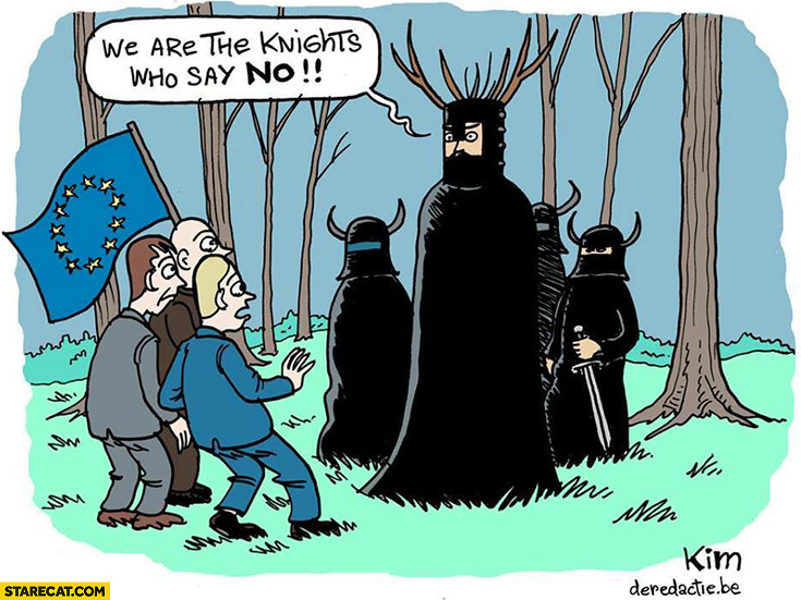 We are the knights who say no. Brexit John Cleese Monty Python European Union