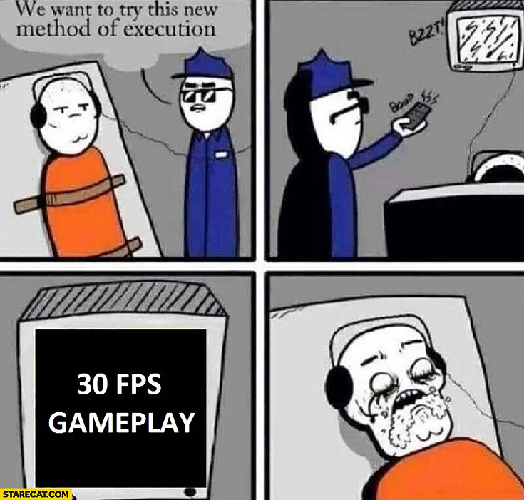 We want to try this new method of execution: 30 FPS gameplay