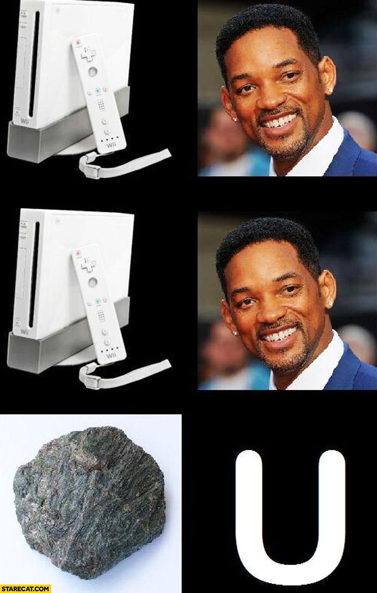 We will rock you Will Smith Nintendo Wii stone