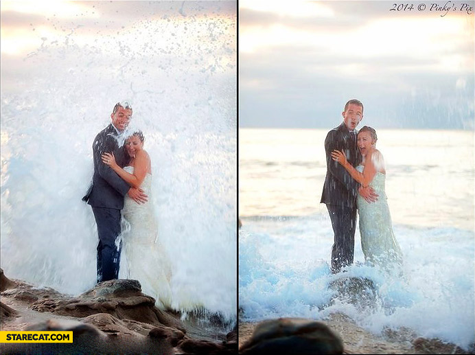 Wedding photo wave