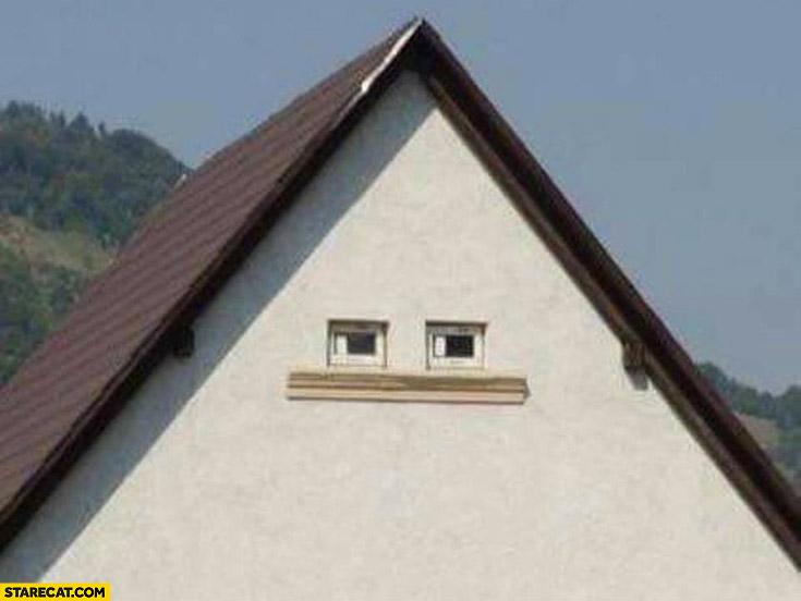 Weird house home human face