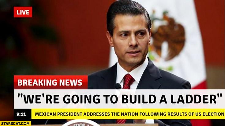 We're going to build a ladder. Mexico president Enrique Peña Nieto