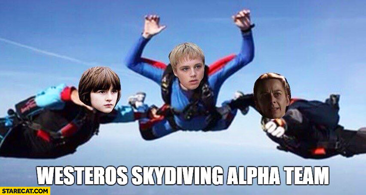 Westeros skydiving alpha team Game of Thrones