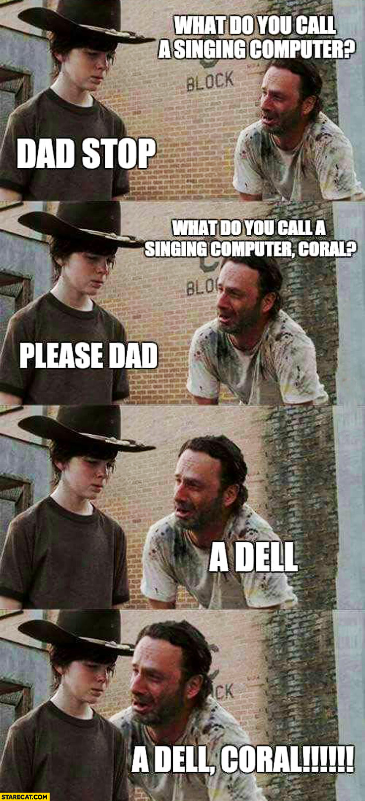 What do you call singing computer? A Dell Coral meme