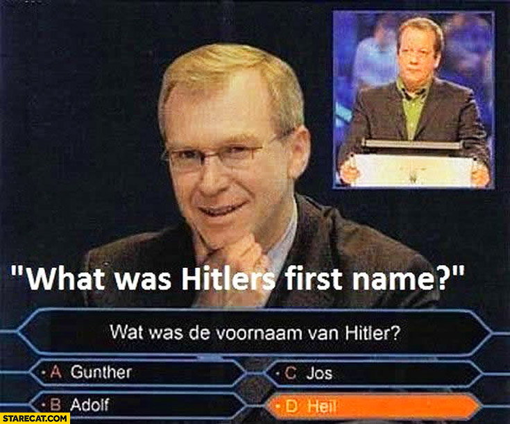 What was Hitlers first name Heil