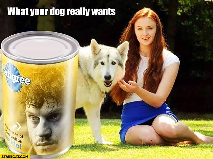 What your dog really wants Pedigree Ramsay Snow Game of Thrones