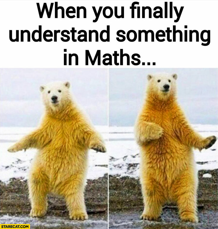 When you finally understand something in maths dancing polar bear