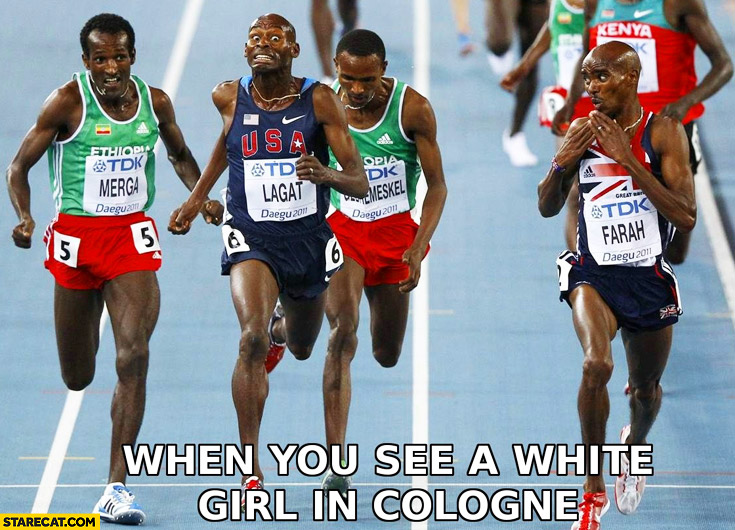 When you see a white girl in Cologne black runners