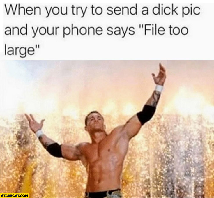 When you try to end a dickpic and your phone says file too large