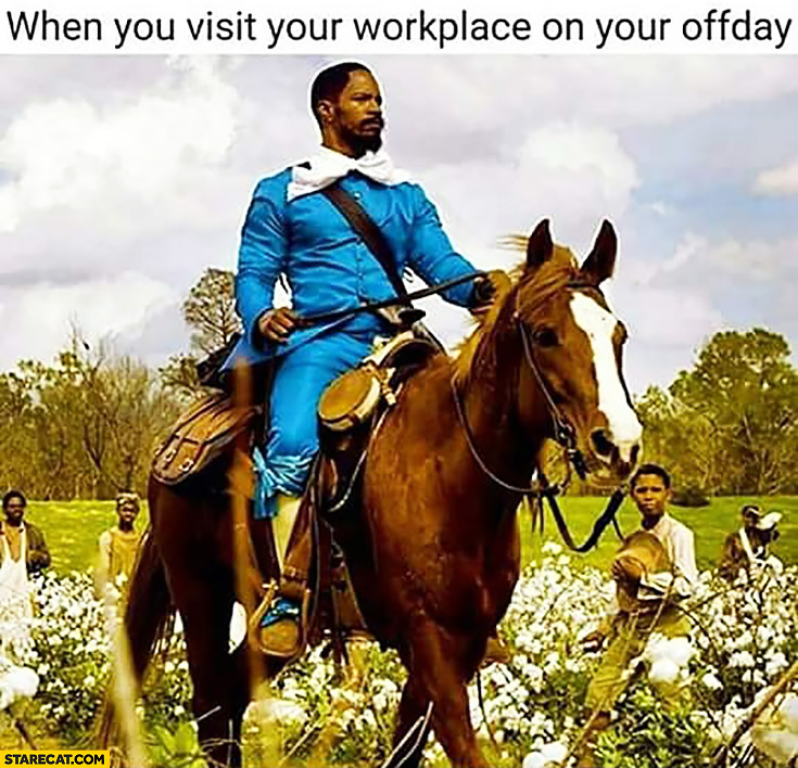 When you visit your workplace on your offday like a king boss