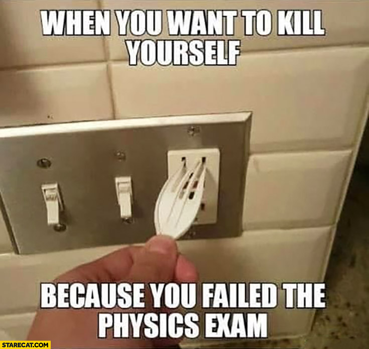 When you want to kill yourself because you failed the physics exam plastic fork electricity fail