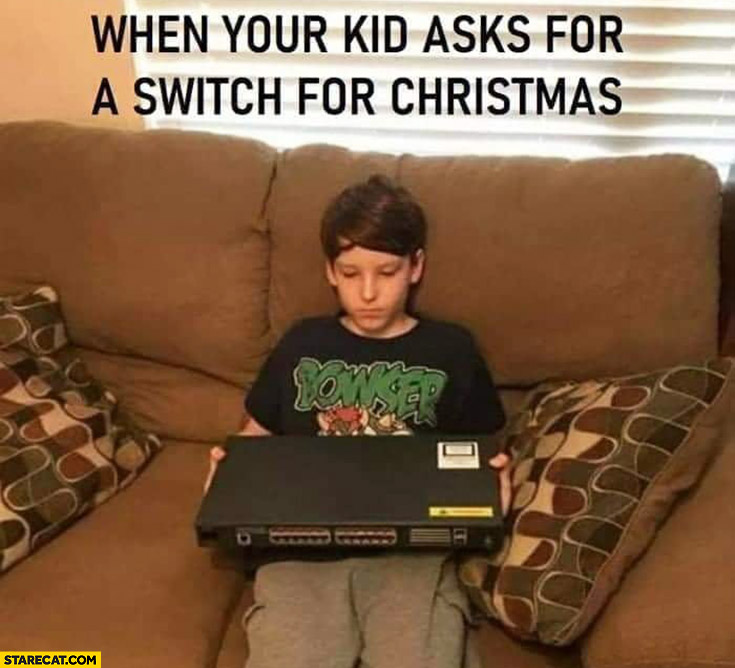 When your kid asks for a switch for Christmas give him old switch