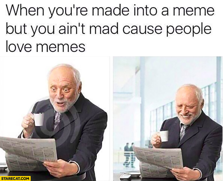 When you're made into a meme but you ain't mad cause people love memes