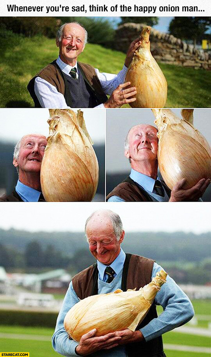 Whenever you're sad think of the happy onion man