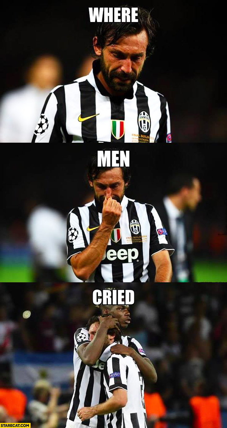 Where men cried Pirlo Balotelli Juventus
