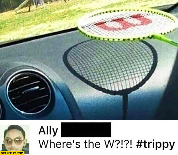 Where's the W? Wilson logo on the racquet shadow shade disappeared