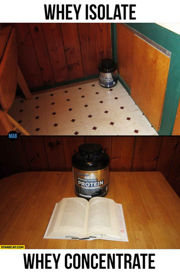 Whey isolate corner whey concentrate book
