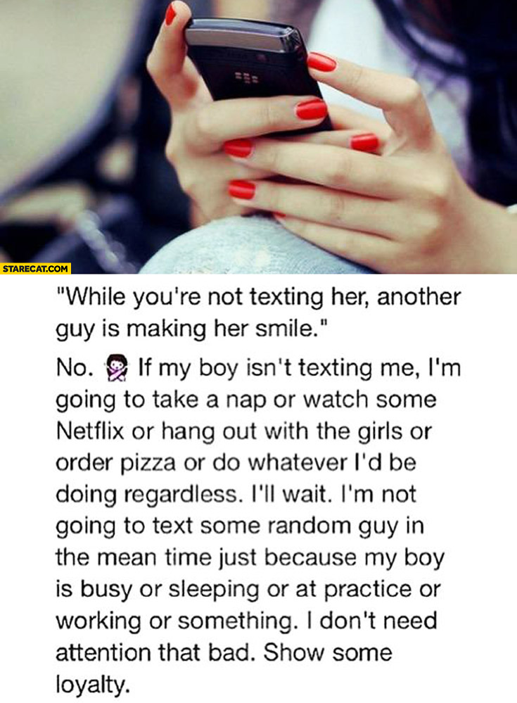 While you're not texting her another guy is making her smile debunked