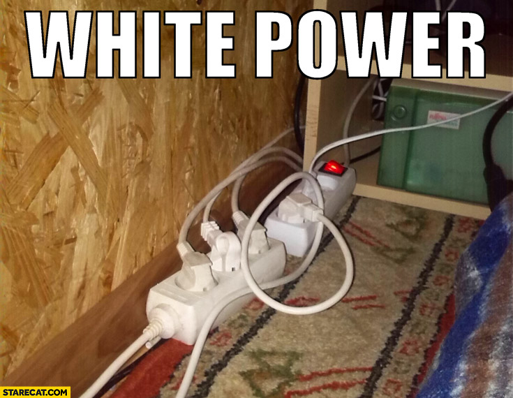 White power cords AC adapter