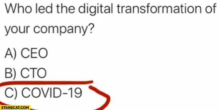 Who led the digital transformation of your company? Covid-19 coronavirus