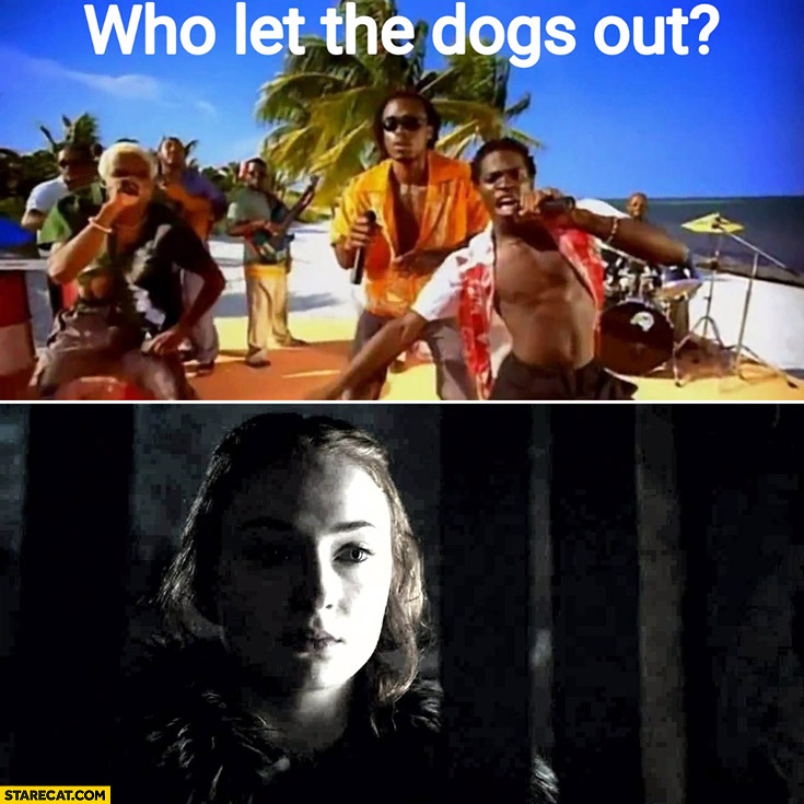 Who let the dogs out? Game of Thrones meme