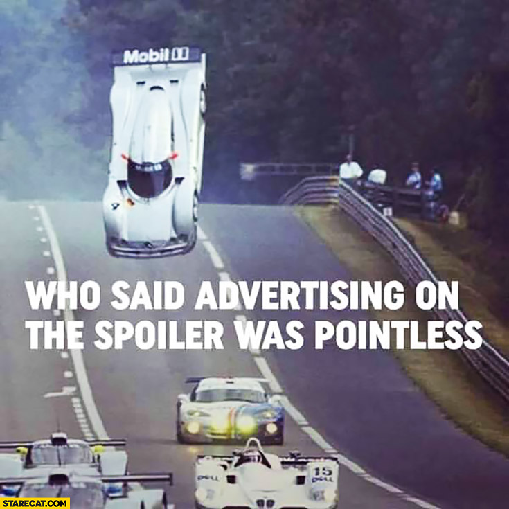 Who said advertising on the spoiler was pointless? Flying car Mobil 1