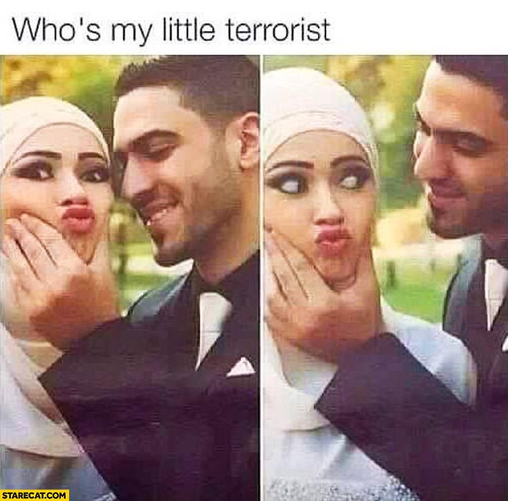 Who's my little terrorist? Muslim couple duckface