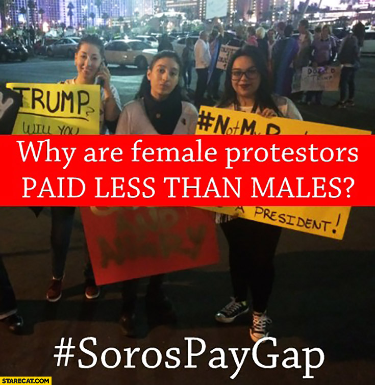 Why are female protesters paid less than males? Soros pay gap