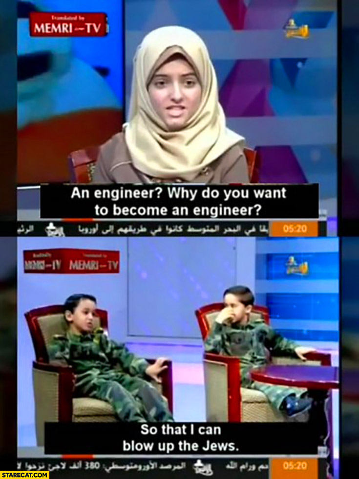 Why do you want to become an engineer? So that I can blow up the jews kid interview