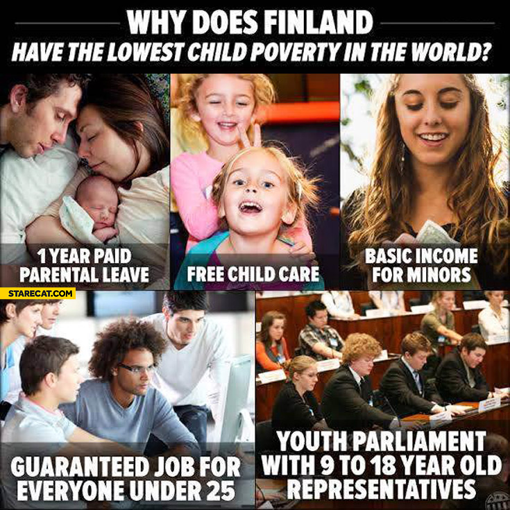 Why Finland has the lowest child poverty in the world