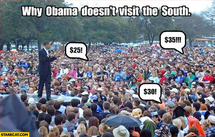 Why Obama doesn't visit the South bidding slavery