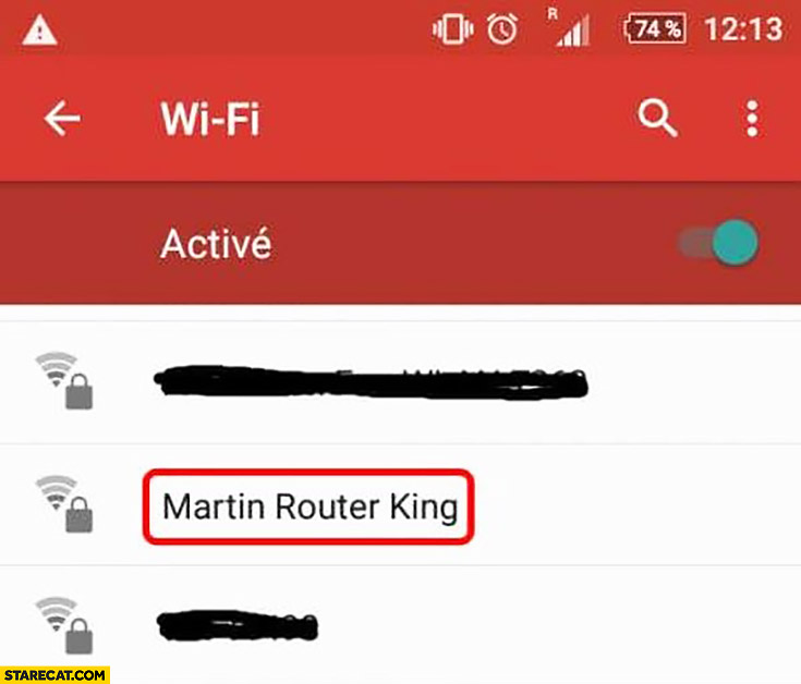 WiFi name Martin Router King