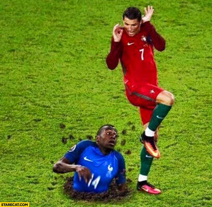 Wild nigglet appeared out of nowhere Christiano Ronaldo funny photoshopped