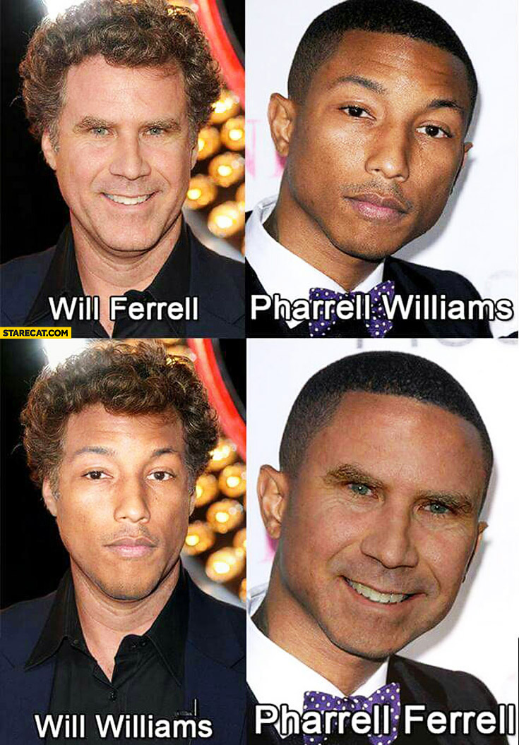 Will Farell Pharell Williams Will Williams Pharell Farell