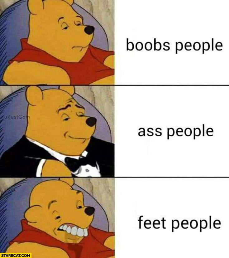 Winnie the Pooh feet people retarded face