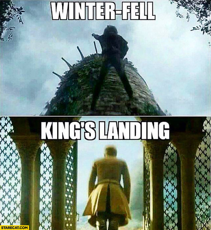 Winter-fell, king's landing Game of Thrones