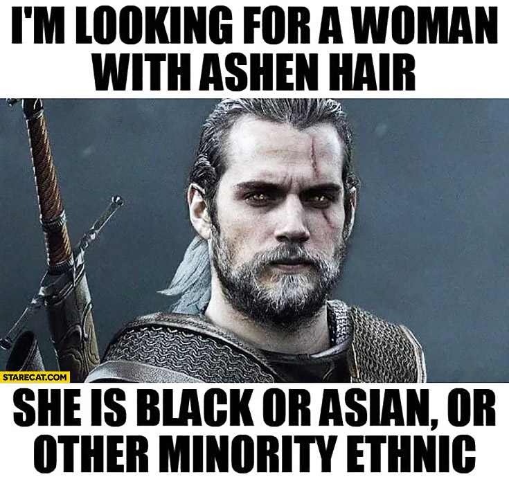 Witcher: I'm looking for a woman with ashen hair she is black or asian or other minority ethic. Cast casting